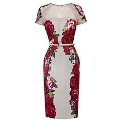 Impresiones florales de vestido de las mujeres – USD $ 62.29