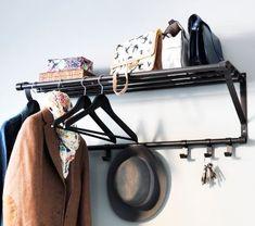 PORTIS kapstok | #IKEA #DagRommel #hal #gang #hanger #zwart