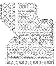 Crochet Lace Vest Pattern - Simple and Stylish Baby Booties Knitting Pattern, Crochet Vest Pattern, Crochet Jacket, Crochet Diagram, Crochet Blouse, Crochet Chart, Crochet Motif, Crochet Stitches, Knit Crochet
