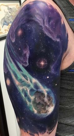 Meteor by Johnny Andres at North Main Tattoo Studio in Plymouth Michigan