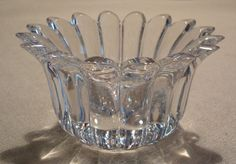 Marquis by Waterford Lead Glass Crystal Votive Candle Holder Leaves Signed…