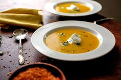 Putting an Indian spin on a French-inspired autumn soup.