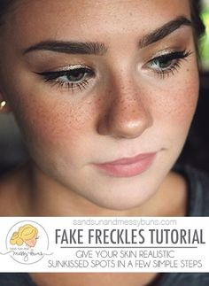 Fake freckles tutorial will teach you how to get a sunkissed look in a few easy…