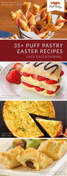 Add a splash of spring to your Easter party plans with this collection of crowd-favorite recipes. Pepperidge Farm® Puff Pastry Sheets make it easy to entertain guests. Click here to explore classic dishes like Rustic Cherry Pie; Easter Egg Marshmallow Crème Puffs; and Spinach, Crab, and Artichoke Mini Tarts. Puff Pastry Desserts, Puff Pastry Recipes, Easter Recipes, Holiday Recipes, Easy Meal Prep, Easy Meals, Pepperidge Farm Puff Pastry, Brown Sugar Bacon, Puff Pastry Sheets