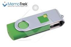 #Branded #USB flash drive Clip 'n Easy in custom green PMS colors and with 2 colors screen print.    http://www.memotrek.com