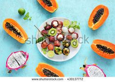 Image result for papaya and dragonfruit