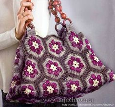 Одноклассники Bag Crochet, Crochet Shell Stitch, Crochet Handbags, Crochet Purses, Crochet Motif, Crochet Designs, Crochet Patterns, Crochet Stitches, Granny Square Bag