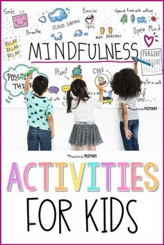 Check out this helpful list of mindfulness activities for kids, including yoga, breathing and focus tools, as well as mindful children's books and self-management teaching resources for K-2 and 3-5. #mindfulness #mindfulkids #socialemotionallearning #yoga #calmingstrategies Teaching Mindfulness, Mindfulness Exercises, Mindfulness For Kids, Mindfulness Activities, Mindfulness Benefits, Mindfulness Therapy, Mindfulness Practice, Mindfulness Training, Mindfullness Activities For Kids