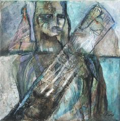 "Schilderij Ping Frederiks, ""The tower ôf Pisa"" 50x50 cm acryl op doek"