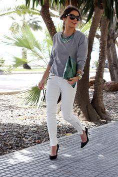 LOOK A DAY | CONSULTORIA DE IMAGEM & COACHING low cost: LOOK DO DIA | Os benefícios de umas boas calças brancas                                                                                                                                                                                 Mais