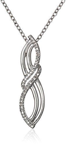 Sterling Silver Diamond-Accent Infinity Pendant Necklace, $28.32 at joyfulcrown.com