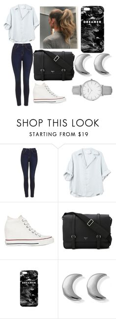 """""""Studying at a Coffee Shop"""" by victoria1221 ❤ liked on Polyvore featuring Topshop, Converse, Serapian, Mr. Gugu & Miss Go and ChloBo"""