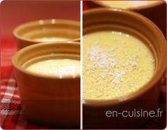 Recette crème aux oeufs à la noix de coco au Thermomix