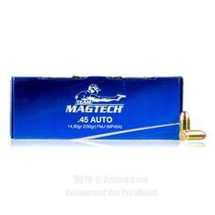 Magtech 45 Auto Ammo - 250 Rounds of 230 Grain FMC Ammunition  #Magtech #MagtechAmmo #45Autoammo #45ACP #FMC