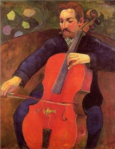 Paul Gauguin - The Cellist (Portrait of Upaupa Scheklud) [1894]