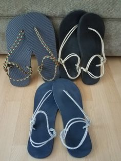 Paracord sandal Socks And Sandals, Bare Foot Sandals, Shoes Sandals, Chinelos Flip Flop, Shoe Makeover, Diy Clothes And Shoes, Bohemian Sandals, Crochet Sandals, Barefoot Shoes