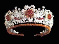 The Burmese Ruby Tiara - ordered by Queen Elizabeth in 1973