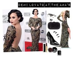 """""""demi lovato's gourgous look at the AMA 2015"""" by sar-rab on Polyvore featuring Arabel Lebrusan, Karma Jewels, Chanel, Eddie Borgo and Essie"""