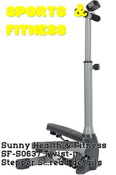 Sunny Health and Fitness SF-S0637 Twist-in Stepper Step Machine w/Handlebar and LCD Monitor ... (This is an affiliate link) Lcd Monitor, Outdoor Power Equipment, Sunnies, Cardio, Health Fitness, Training, Link, Sports, Hs Sports