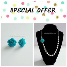 Hey, I found this really awesome Etsy listing at https://www.etsy.com/listing/286475319/bridal-turquoise-flower-rose-necklace