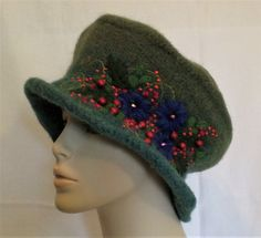 Very Berry Vivian Hat by ambrosiacottage on Etsy