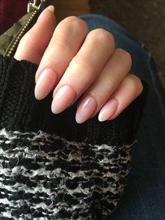 Sheer Pink/Natural acrylic almond nails