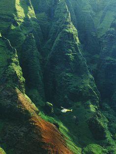 Blue Hawaiian over the Napali Coast