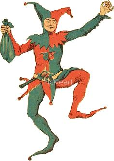 'Court Jester' by Tickleart Jester Costume, Jester Hat, Court Jester, Jester Outfit, Medieval Jester, Medieval Party, Joker Playing Card, Joker Card, Pinocchio