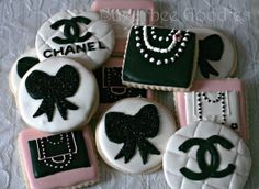Chanel Sugar Cookies by SugarbeeGoodies on Etsy, $36.00
