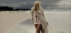 Bohemian fashion for the gypsy, wanderer, dreamer - iconic Australian boho fashion label created by two sisters in Byron Bay. Hippie Chic, Hippie Style, Boho Chic, Style Boho, My Style, Beach Sweater, Beach Tunic, Big Sweater, Long Cardigan