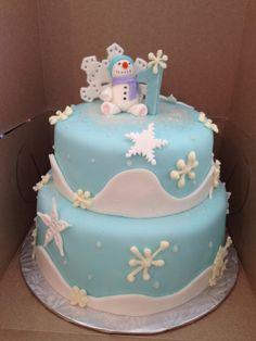 Snow Flake birthday cake