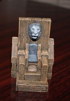 Miniature Game Terrain Wooden Throne by KnightWatchGames on Etsy