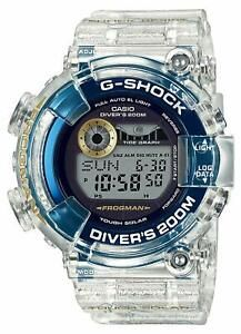 """G-SHOCK is based on (Frogman) and and BABY-G is based on The """"I-Search Japan"""" logo and 24 whales (G-SHOCK) and dolphins (BABY-G) were printed on a skeleton-colored band inspired by the sea. Casio G Shock Frogman, Casio Frogman, Casio Oceanus, Solar Watch, 25th Anniversary, Watch Brands, Casio Watch, Luxury Watches, Watches For Men"""