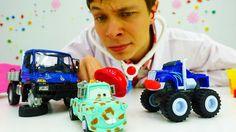 Чудо Машинки, Тачки и Грузовичок на приёме у Доктора Ой! Видео #машинки ...
