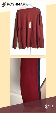 Heavyweight Maroon & Navy Pullover Thermal Shirt Perfect condition, brand new with tags! Maroon with navy blue stripes on sleeves. Non-smoking and pet free home. Looking to only sell on posh! Route 66 Shirts