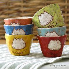 espresso cups - handmade ceramic art by Giosy Matteu