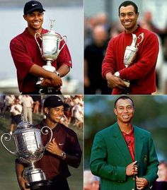"Tiger Woods Timeline - Won 78 official PGA Tour events including 14 majors. He has been heralded as ""the greatest closer in history"" by multiple golf experts. He owns the lowest career scoring average & the most career earnings of any player in PGA Tour history.  Woods has spent the most consecutive & cumulative weeks atop the world rankings. He is 1 of 5 players to have won all 4 prof'l major championships in his career, known as the Career Grand Slam, & the youngest to do so."