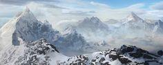painting mountains - Szukaj w Google