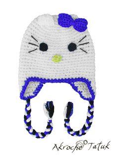 Tuque Hello Kitty crochet hat