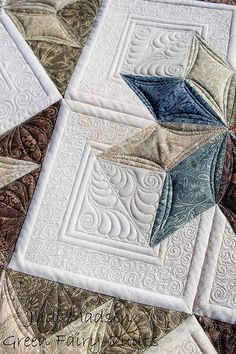 free-motion quilting by Judi Madsen of Green Fairy Quilts