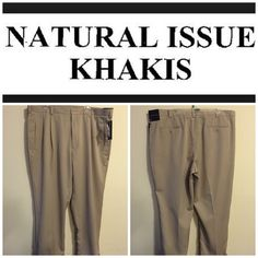 Professional khakis New with tags. Khaki. Mens. Width: 44. Length: 29. The. Arterial is 65% polyester and 35% rayon. No trades. Natural issue  Pants