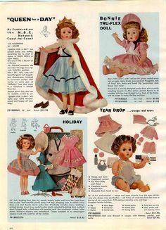 1957 ADVERTISEMENT Toy Doll Queen Day Tear Drop Valentina Doreena Ballerina