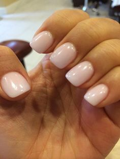 Photo of Paradise Nails & Spa - Houston, TX, United States. Went shorter and lighter , back to my usual colored powder. Thanks my dearest Linda! Sns Nails, Cute Nails, Pretty Nails, Acrylic Nails, Acrylics, Nail Spa, Manicure And Pedicure, Manicure Ideas, Nail Nail