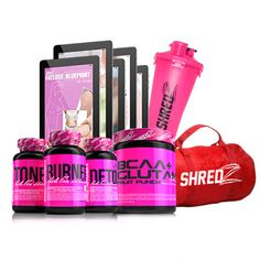 Deal of the Day – 30 Day Quick Weight Loss Plan For Women w/ SHREDZ Duffle Bag & Shaker Cup