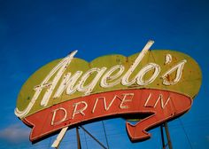 Angelo's Drive In Neon Sign - Vintage Sign Art - Historic Highway 99 - via Etsy.