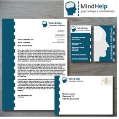 Corporate Visual Identity for MindHelp   For a design pitch