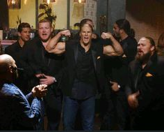 Some of the Packers in Pitch Perfect 2