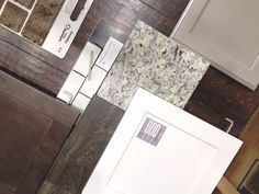 Loving these selections from these buyers! Can't go wrong with White Maple Whitman cabinets, granite counter tops, smaller white subway tiles with light gray grout!