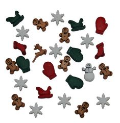 DRESS IT UP BUTTONS Christmas 12 Pack Assortment