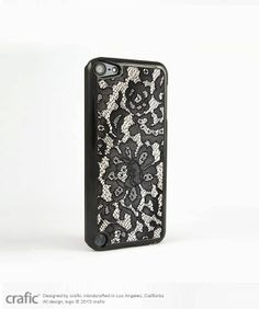 Black Lace iPod Touch 5 Case, iPod Touch 4 Case